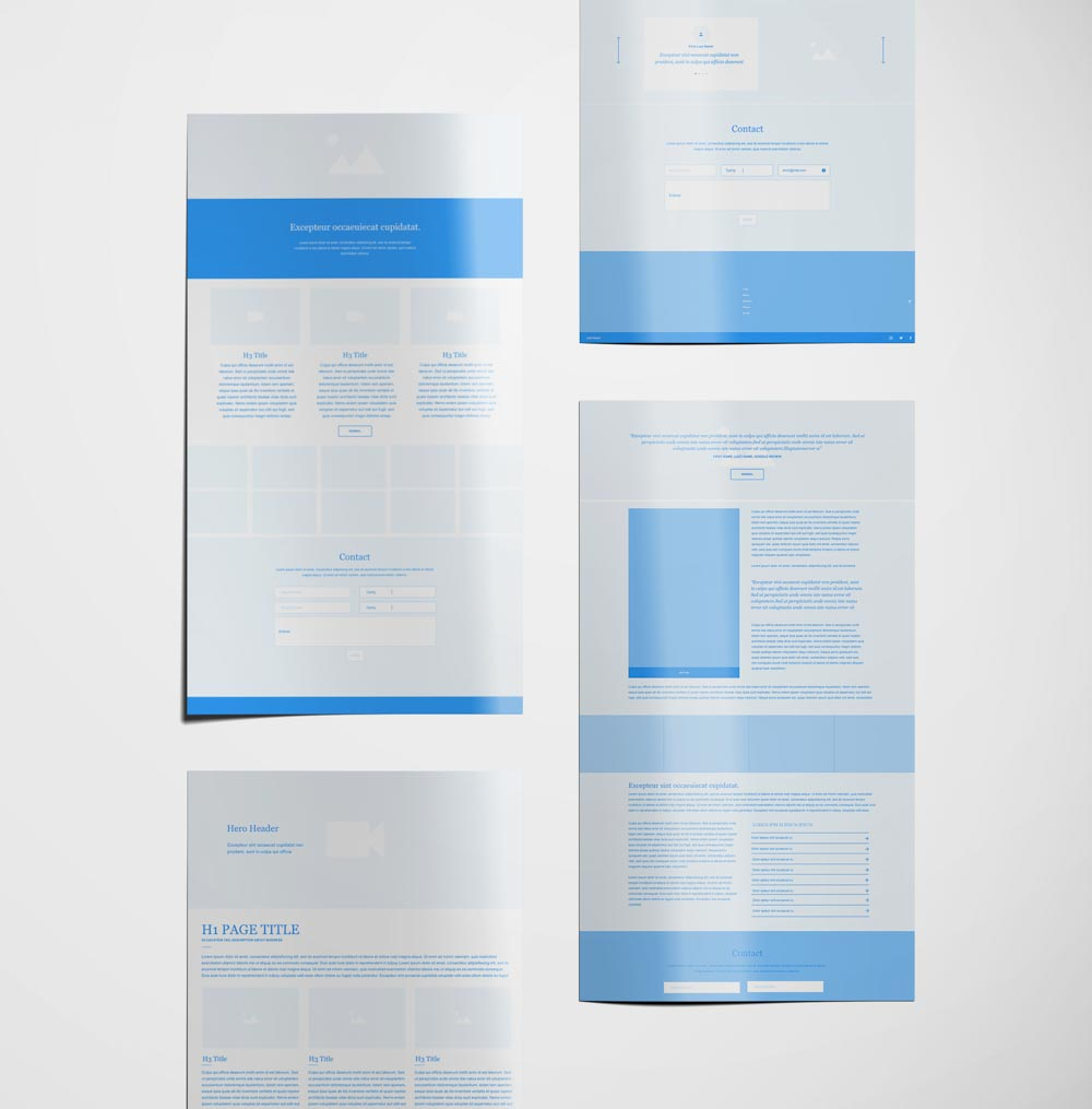 Web Design Wireframes Before After | Hundred Rubys Digital Marketing