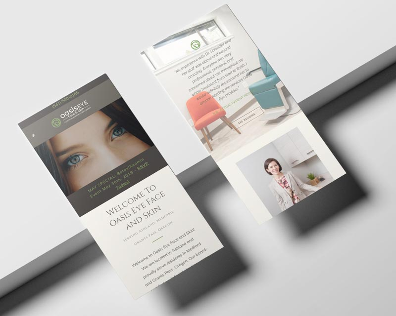 Oasis Eye Face and Skin Web Design | Hundred Rubys Digital Marketing
